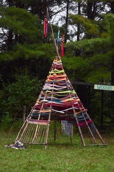 Ribbon tent