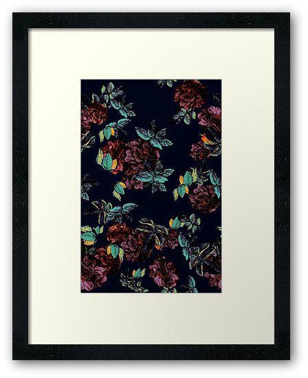 Framed Prints Roses Garden by talipmemis