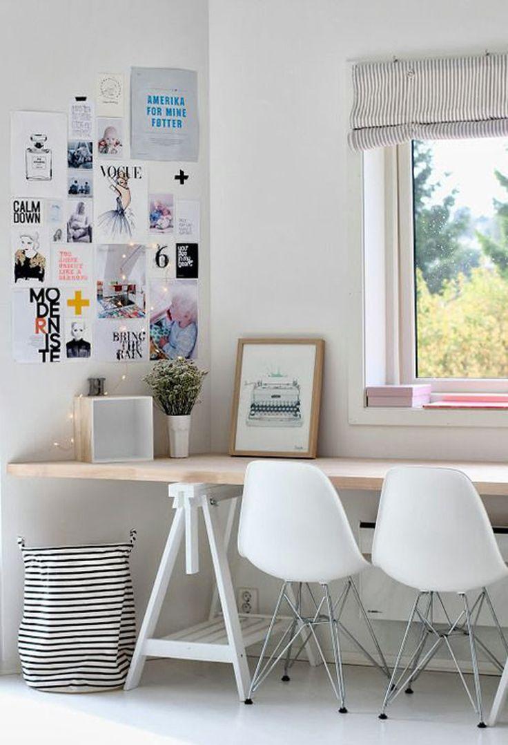 Na hora de decorar um home office além da decoração, o conforto também é imprescindível! Aposte nas cadeiras Eames que são muito aconchegantes e ainda decoram com muito estilo. ;)  http://carrodemo.la/cbe37