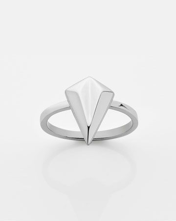 Faceted Stacker Ring - Meadowlark