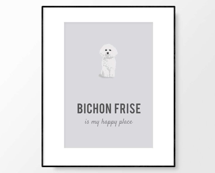 Bichon Frise, Bichon Frise Print, Bichon Frise Wall Art, Bichon Frise Gift, Bichon Illustration, Dog Wall Art, Gift for Her, Digital Print by PaperPaintPixels on Etsy https://www.etsy.com/ca/listing/497427555/bichon-frise-bichon-frise-print-bichon