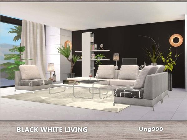 117 best images about furnitures living room sims4 on for Modern living room sims 4