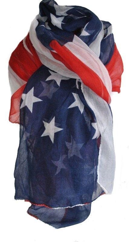 Amerikaanse vlag sjaal www.beadscreations.nl