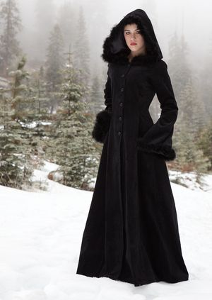Anastasia Coat from The Dark Angel Design Company. Do I want this in black or ivory? Uh, both. I may have to buy it next year - my winter coat has lasted me since I was 17, and I've been meaning to buy one for a couple of winters. This is only a little more than I figured I'd have to pay.