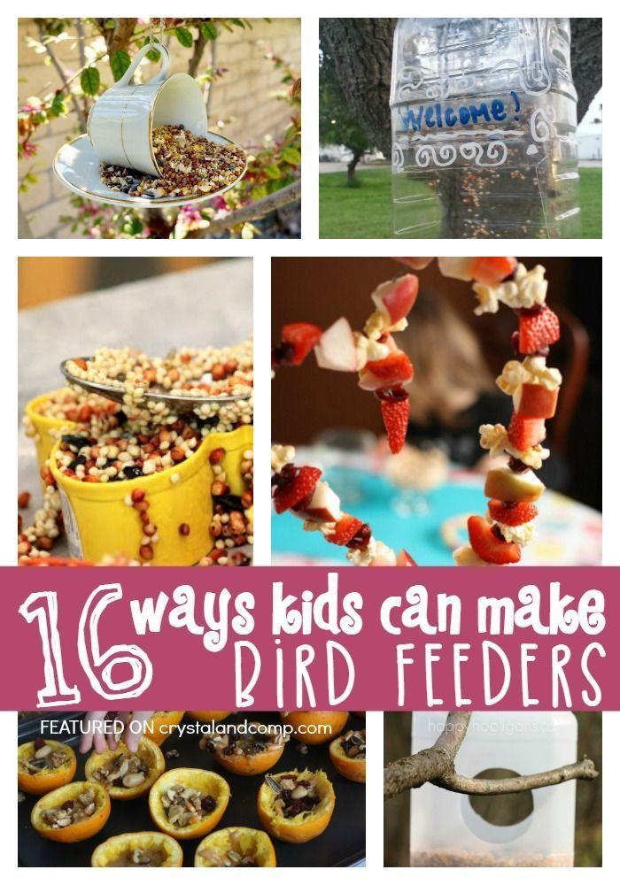 16 ways kids can make bird feeders