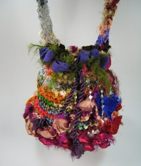 Wonderful Recycled Silk Sari Ribbon Purses