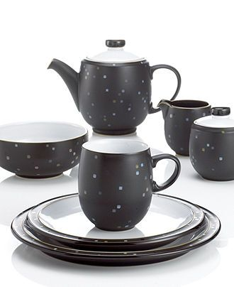 Denby Dinnerware, Jet Skyline Collection - Casual Dinnerware - Dining & Entertaining - Macy's