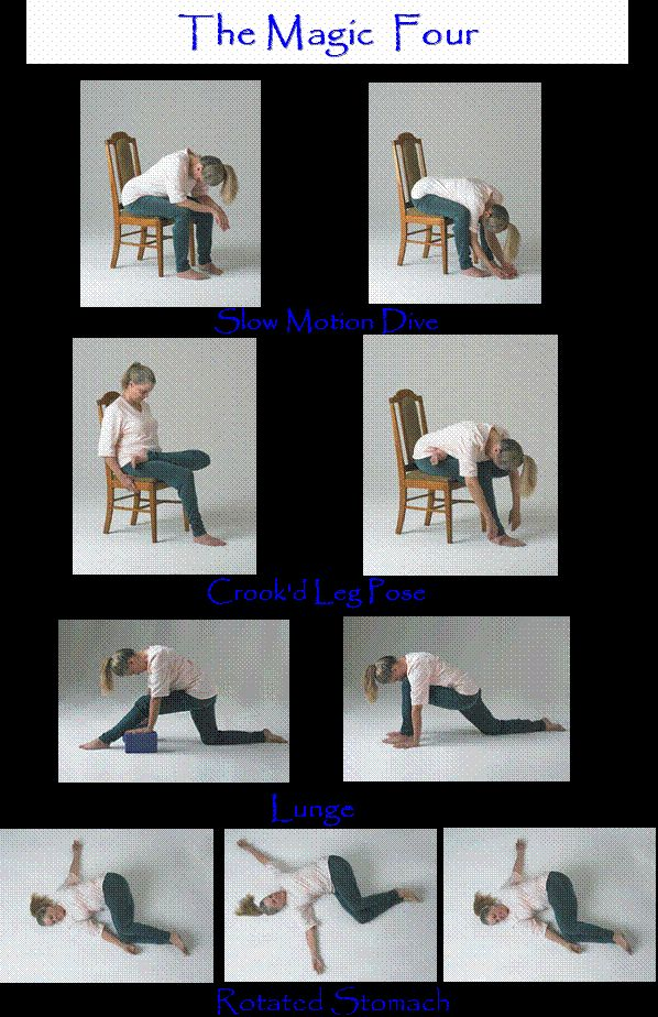 The Magic Four - 4 yoga poses for spinal decompression...