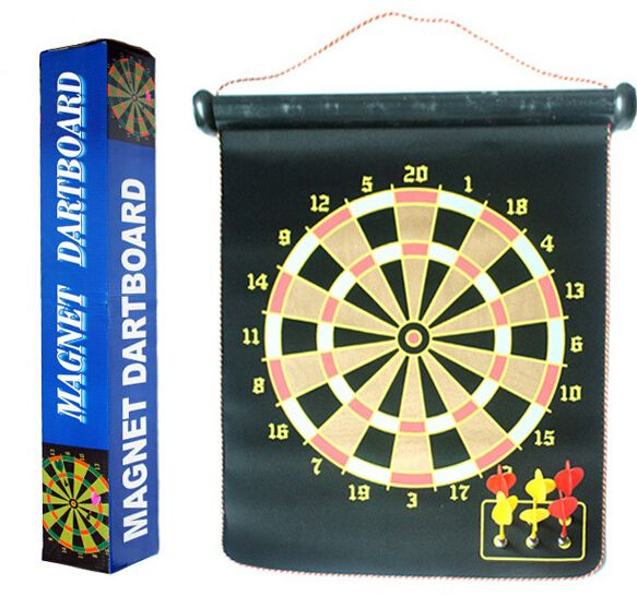 2 Side 15 inch Magnetic Indoor Sport Double target Nerf Dart Gun Flocking Dartboard 6 Darts + 1 Dart Board Free Shipping #Affiliate