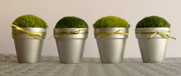 Little moss pots: Moss Pots, Diy'S, Decoration, Wedding Ideas, Weddings, Centerpieces, Party Ideas