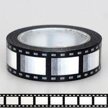 1X15mm Nastro Bianco Nero Negativo pellicola fotocamera Stampa Scrapbooking FAI…
