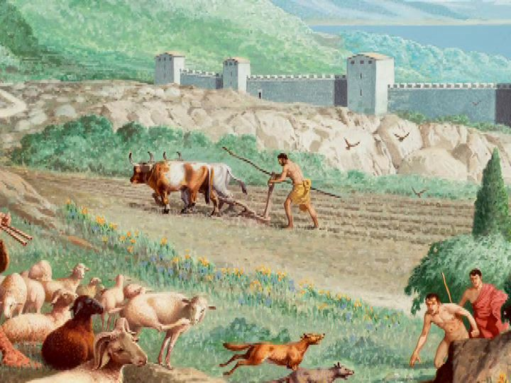 The people who did the most agriculture work were people in the middle class social class, also known as the Perioeci.  These people were typically farmers or peasants.