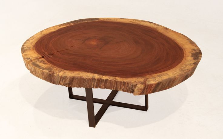 "Solid ""Devil's Ear"" tree round coffee table image 3"