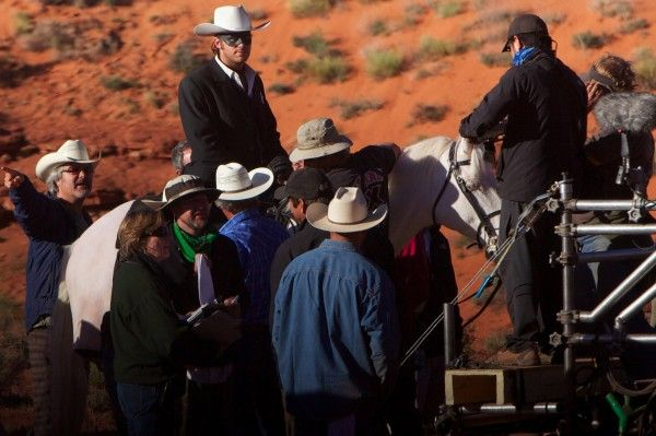 Lone Ranger on his horsey! Hi Ho Silver away! (that is a set picture for The Lone Ranger in case you didn't guess!)