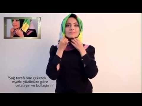Hijab Tutorial Turkish Style - YouTube