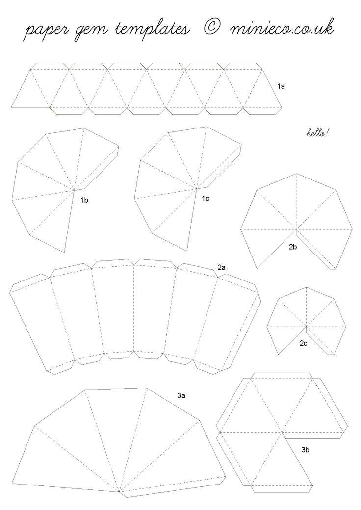 paper gem template | 07. crafts | Pinterest | Gems, Craft ...