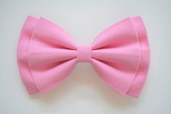 Arco del pelo rosa arcos del pelo para las por ClipaBowBoutique
