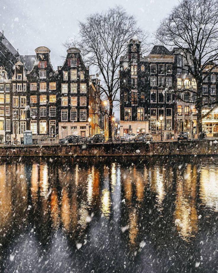 Amsterdam, die Niederlande im Winter