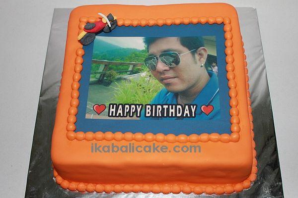 Edible picture on cake ikabalicake.com