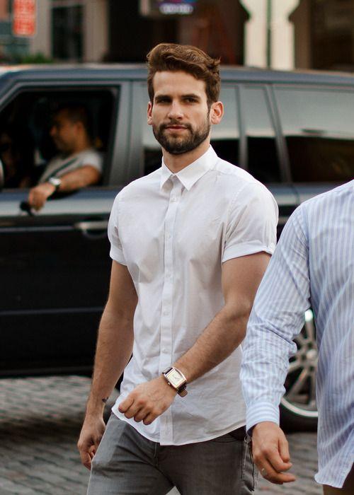 : Menfashion, Style, Buttons Up, Clothing, White Shirts, Casual, Men Fashion, Shorts Sleeve, Fashion Night