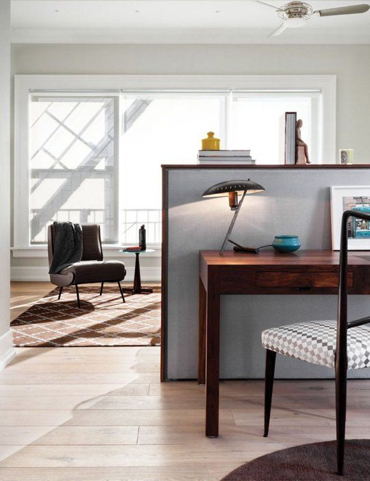 10 Ideas for Dividing Small Spaces | Dining room office ...