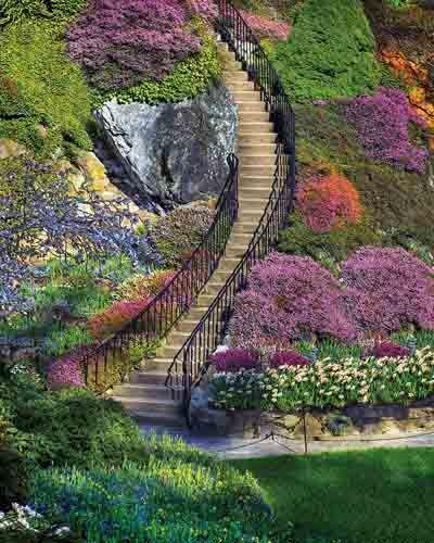 Garden Stairway 500 Piece Jigsaw Puzzle