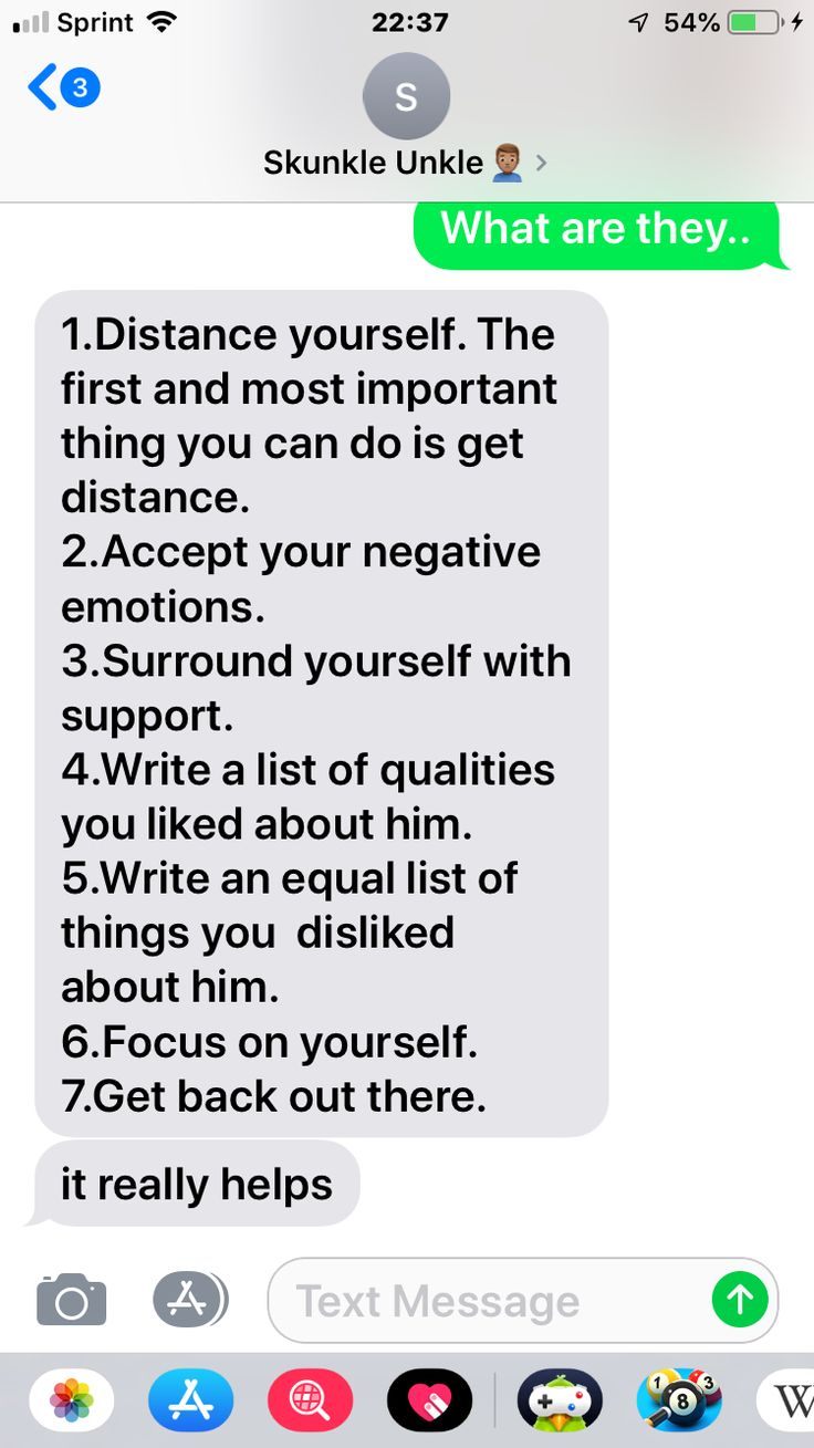 Her helping me through the breakup 💗😭  Negative emotions