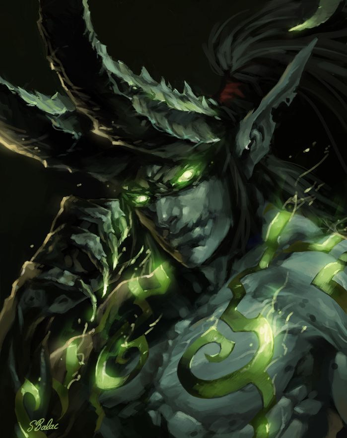 Illidan Stormrage by *sbalac on deviantART  My favorite misunderstood bad guy