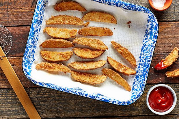 Find the recipe for Crispy Spiced Potato Wedges and other potato recipes at Epicurious.com