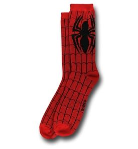 Spiderman & Venom Crew Sock 2 Pack-Spidey Costume Flat View
