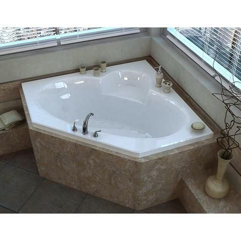 Atlantis Sublime 6060 Drop In Corner Oval Jetted Bathtub