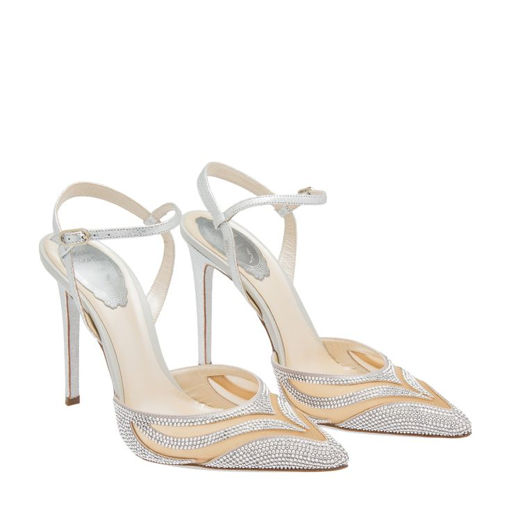 Rene Caovilla Woman Leather-trimmed Embellished Lace Slingback Sandals Ivory Size 41 Rene Caovilla Discount 2018 Unisex Buy For Sale New Style s0JW2m6a2t