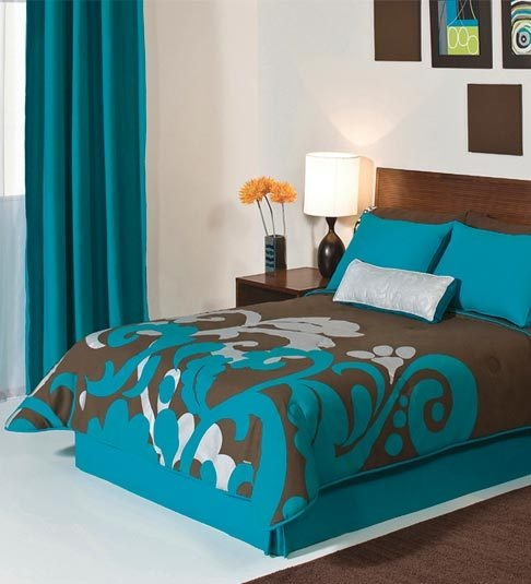 90 Best Images About Teal And Brown Bedding On Pinterest