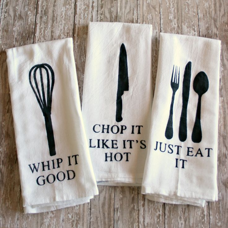 DIY Painted Kitchen Towels with funny sayings  Whip it good   Chop it47 best Gift Ideas images on Pinterest   Gifts  DIY and Kitchen. Good Christmas Gifts For The Kitchen. Home Design Ideas