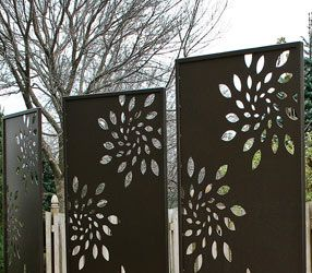 8 best images about deck sculpture wall on pinterest for Metal privacy screens for decks