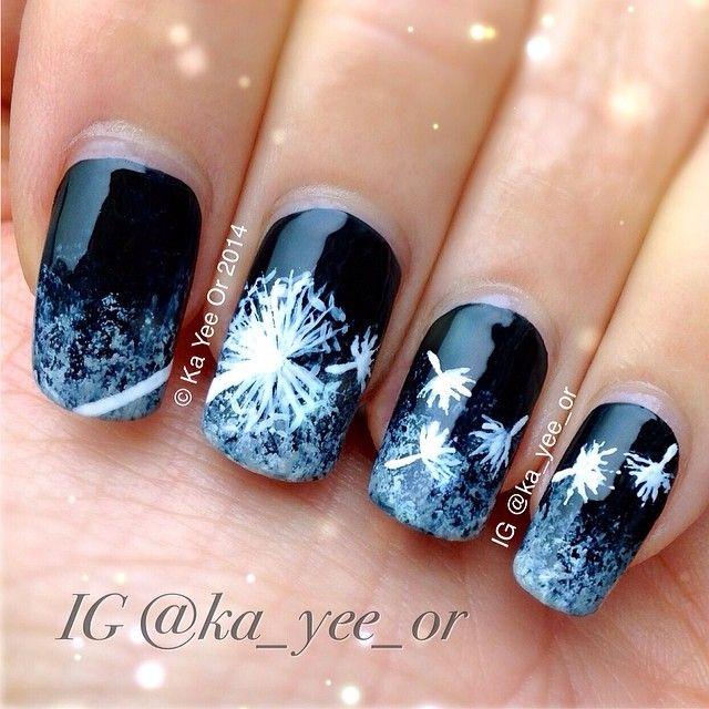Best 25 dandelion nail art ideas on pinterest pretty nails black and white dandelion nail art prinsesfo Gallery