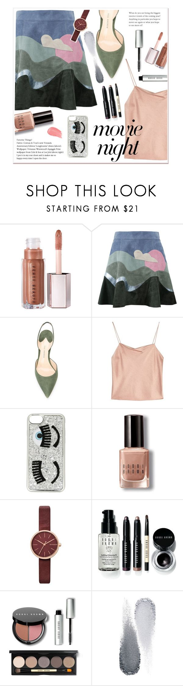 """Grn Pnk"" by elenaafiya ❤ liked on Polyvore featuring Marc Jacobs, Paul Andrew, Alice + Olivia, Chiara Ferragni, Bobbi Brown Cosmetics, Skagen and Clé de Peau Beauté"