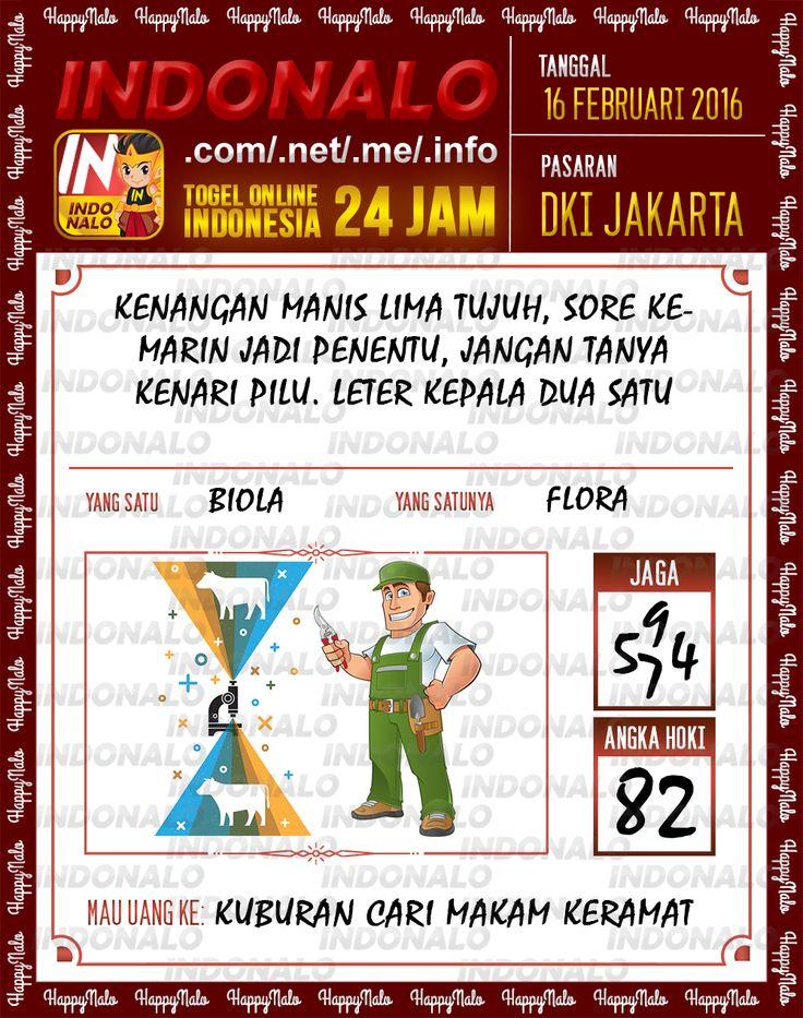 Prediksi Togel Online Indonalo DKI Jakarta 16 Febuari 2016