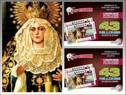 Hoy Loteria Nacional para la Asistencia Publica (LOTENAL), reparte un total de $43 Millones de pesos con el #SorteoSuperior 2514 del Viernes 30/6/2017.