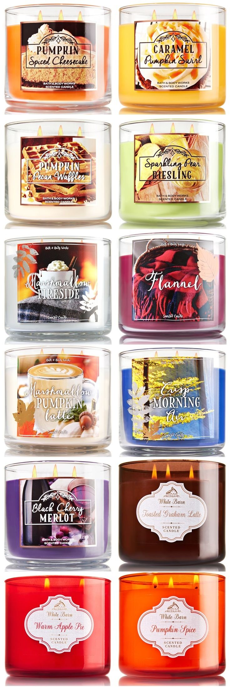 Bath & Body Works Fall 2016 Candles