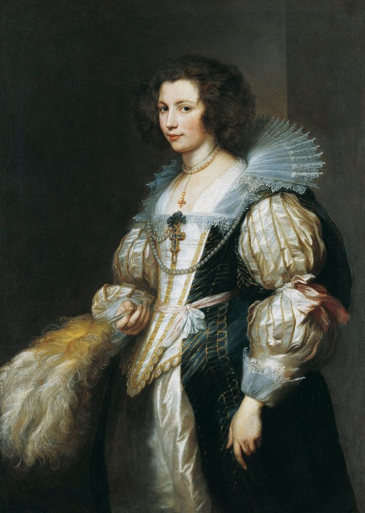 Portrait of Maria Lugia de Tassis.  Anthony van Dyck, 1629