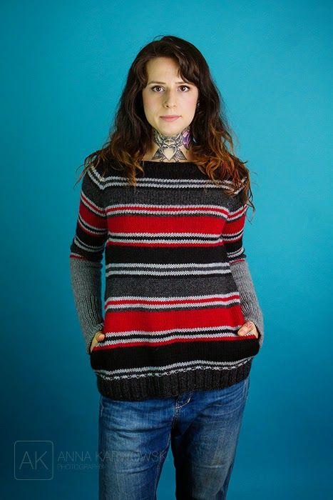 Anna Karwowski: Spring Lines Jumper. Knitting pattern from La Maison Rililie Designs