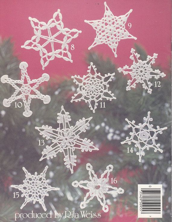 how to make crochet snowflake ornaments