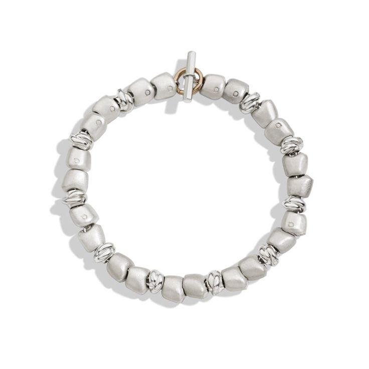 bracciale nodini sassolini argento beads milano gioielli