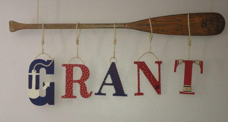 Nautical baby room name! :-)