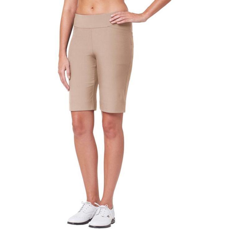 Tail Women's Essentials Mulligan Golf Shorts, Size: 10, Brown