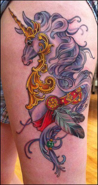 Kim Saigh ©2012  This unicorn is strangely elegant...
