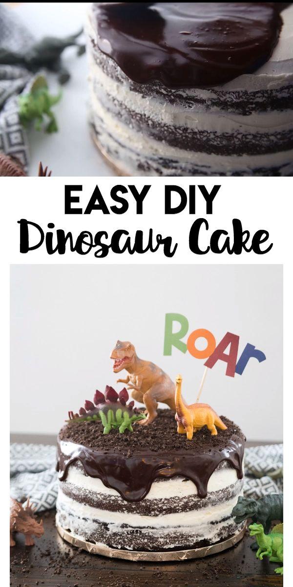 Easy DIY Dinosaur Cake