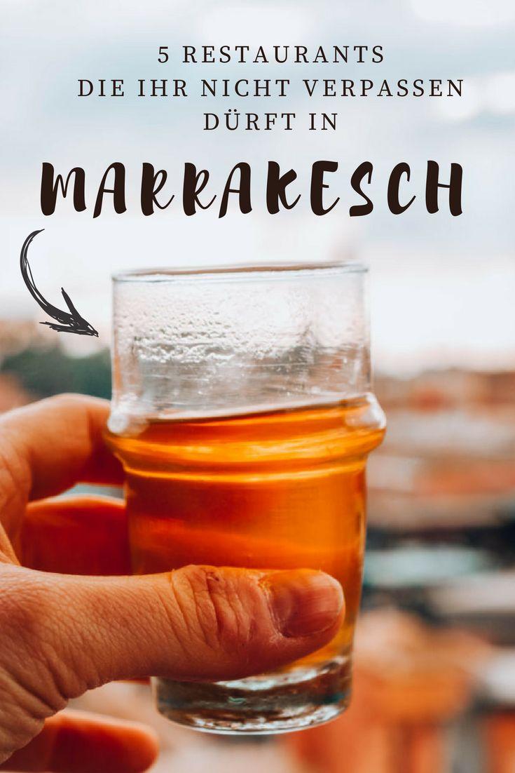 Minztee mit Blick über die Medina von Marrakesch und den Djemáa el-fna? Yes please! Hier zeige ich euch meine fünf liebsten Restaurants in der Altstadt von Marrakesch.