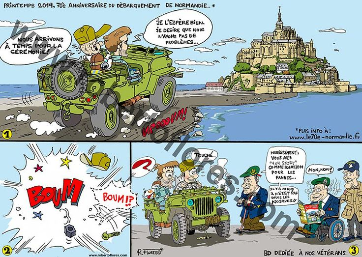 "This is a #comic or #bandedessinnéé for issue  nº 54  ""4x4 Story Spécial Jeep"", January-February 2014. Devoted to the #Normandy landings and #Allied #WW2 #vets. And also, to the iconic #willysjeep. Well, or #FordGPW too!"